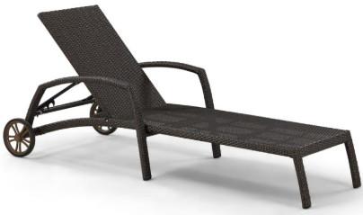 Шезлонг-лежак Афина-Мебель A35A-W53 коричневый (без матраса)