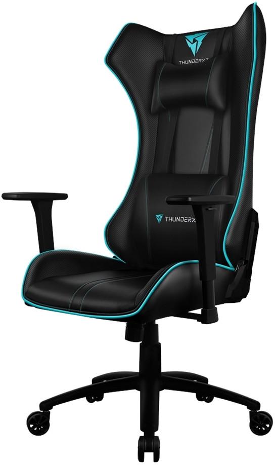 Игровое кресло ThunderX3 UC5 черный/голубой (c подсветкой)
