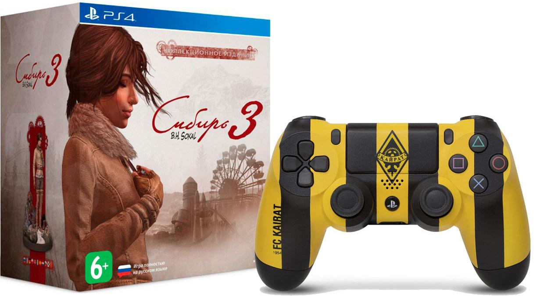 Геймпад Sony DualShock 4 Кайрат + Сибирь 3 коллекционное издание