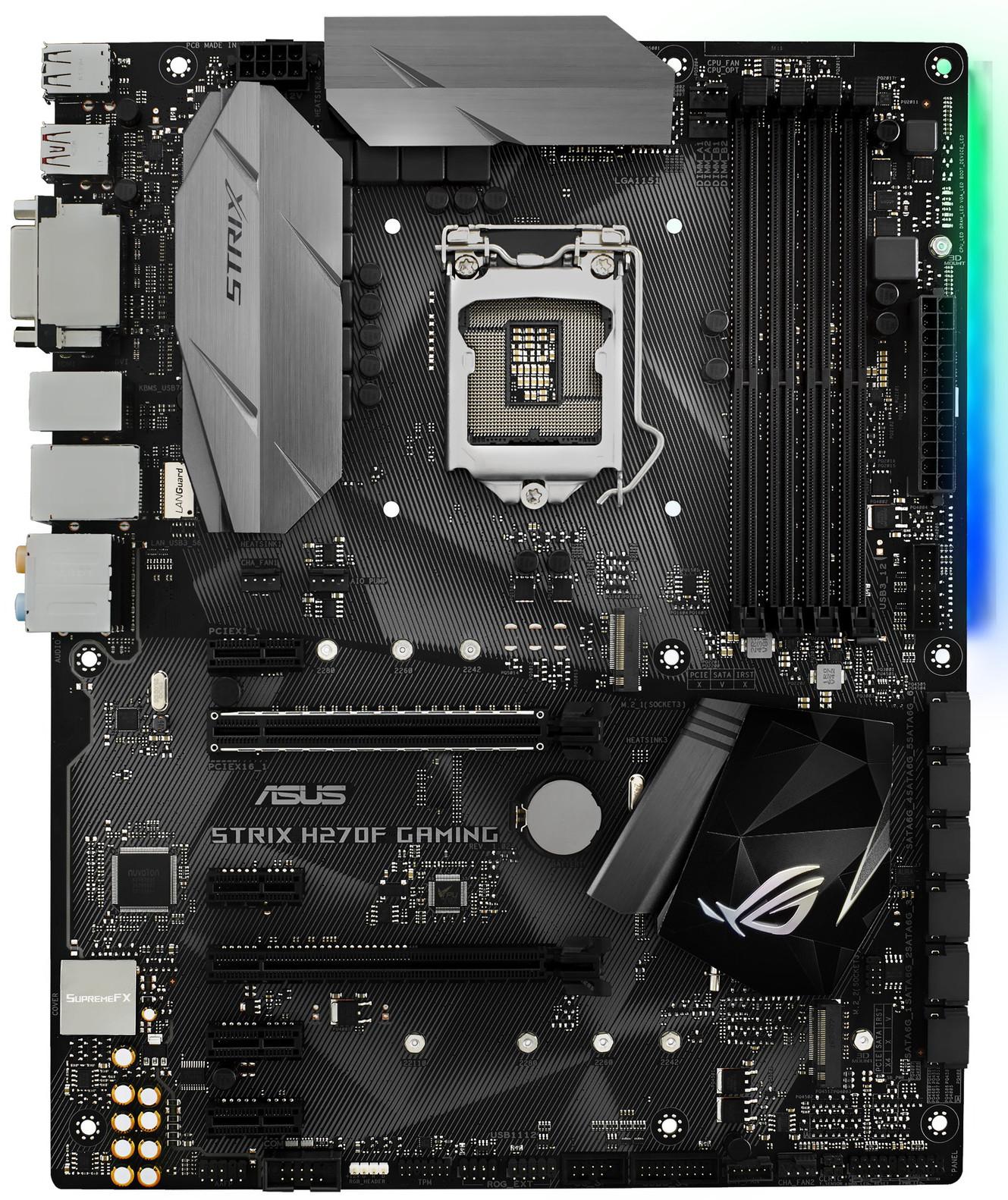 Материнская плата Asus ROG Strix H270F Gaming LGA 1151