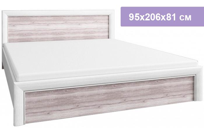 Односпальная кровать Цвет Диванов Olivia вудлайн крем/дуб анкона 95x206x81 см