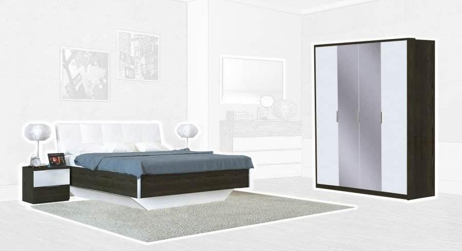 Спальня Интердизайн Тоскано ясень темный/белый (композиция 2)
