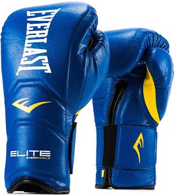 Перчатки Everlast Elite Pro 14oz Blue (на липучке)