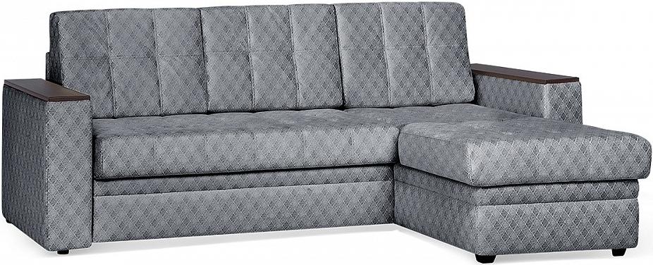 Диван-кровать Цвет Диванов Атланта Next угловой стальной 231x150x95 см