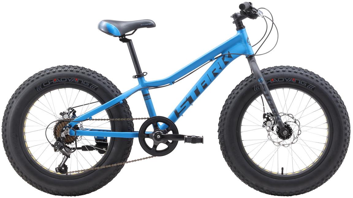 """Велосипед Stark Rocket Fat 20.1 D (2019) голубой/черный/серый 20""""/-"""