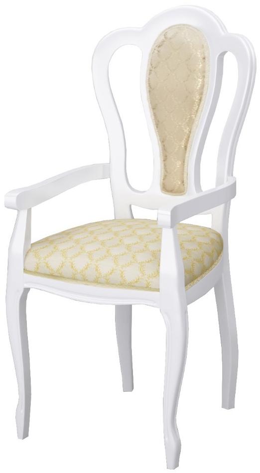 Кресло Интердизайн Роза белый/золото 1055x570x540 см