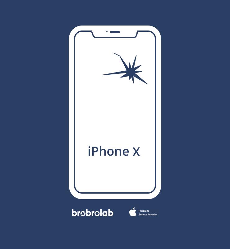 Замена экрана iPhone X в авторизованном…