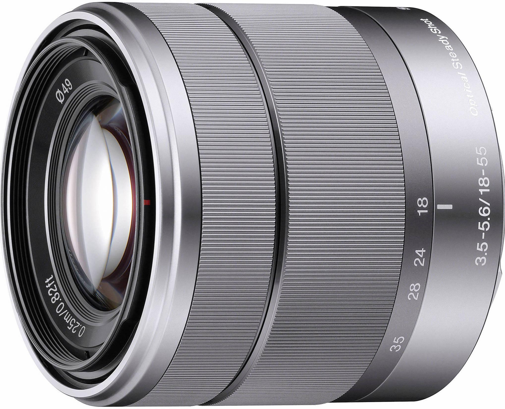 Объектив Sony E 18-55mm f/3.5-5.6 OSS Silver