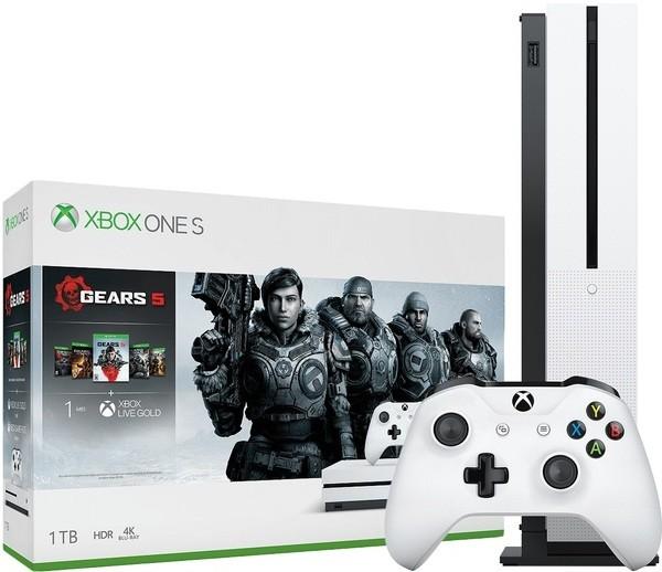 Игровая приставка Microsoft Xbox One S 1Tb White + Gears 5