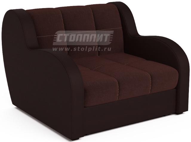 Кресло-кровать Столплит Боро люкс шоколадный 104x96x83 мм