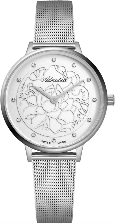 Наручные часы Adriatica Milano A3573 белый/стальной