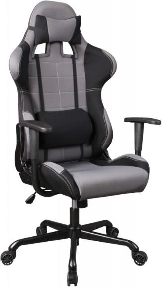 Игровое кресло Бюрократ 771/GREY+BL сер…