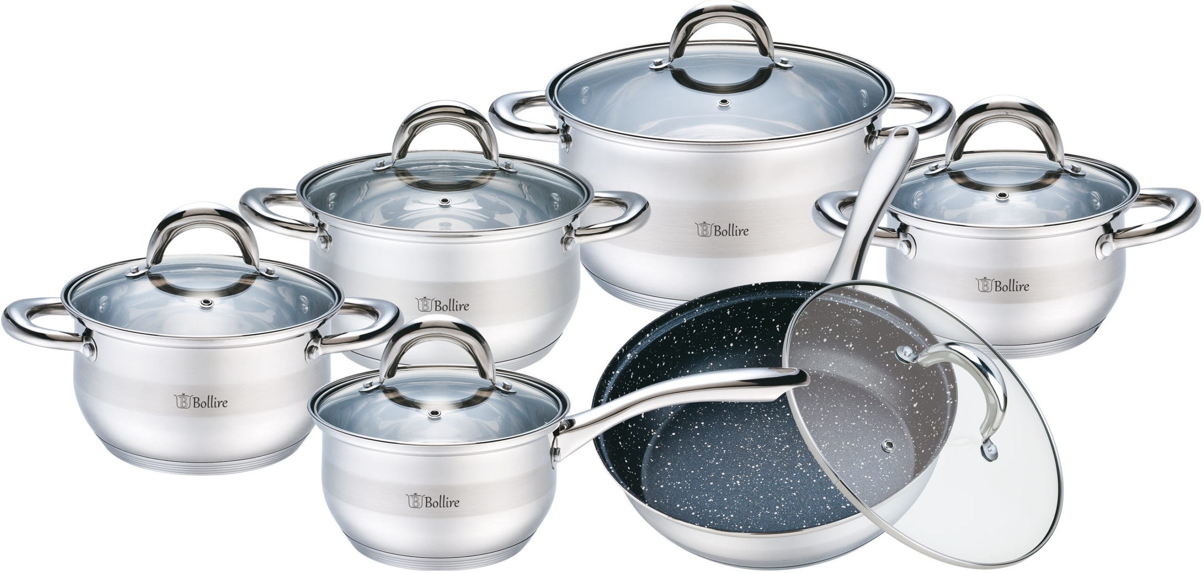 Набор посуды Bollire BR-4006 (12 предметов)