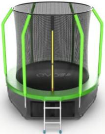Батут Evo Jump Cosmo 6FT Green (с внутренней и нижней сеткой, лестницей)