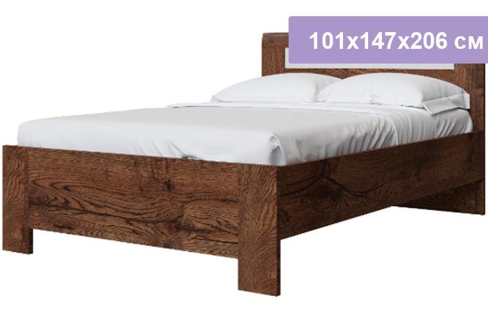 Полутороспальная кровать Интердизайн Тоскано Лайт темно-коричневый/белый 101x147x206 см (ортопедическое основание)
