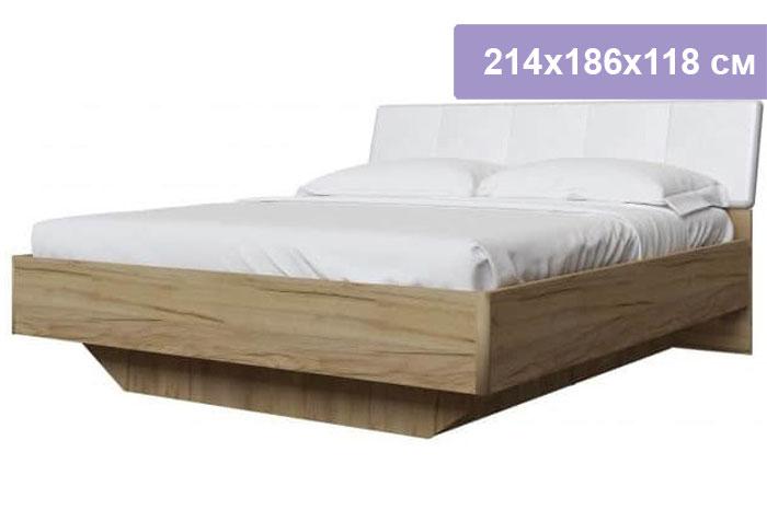 Двуспальная кровать Интердизайн Тоскано дуб крафт/белый 214x186x118 см (ортопедическое основание)