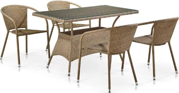 Комплект мебели Афина-Мебель T198D/Y137B-W56 светло-коричневый