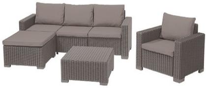 Комплект мебели Allibert Moorea Set Unity капучино песок