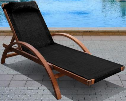 Шезлонг-лежак Афина-Мебель AFM-512A черный