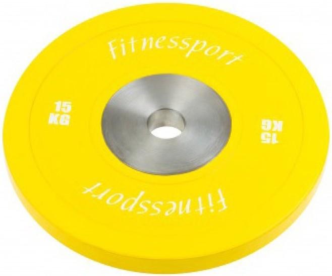 Диск FitnesSport RCP-22 15 кг желтый