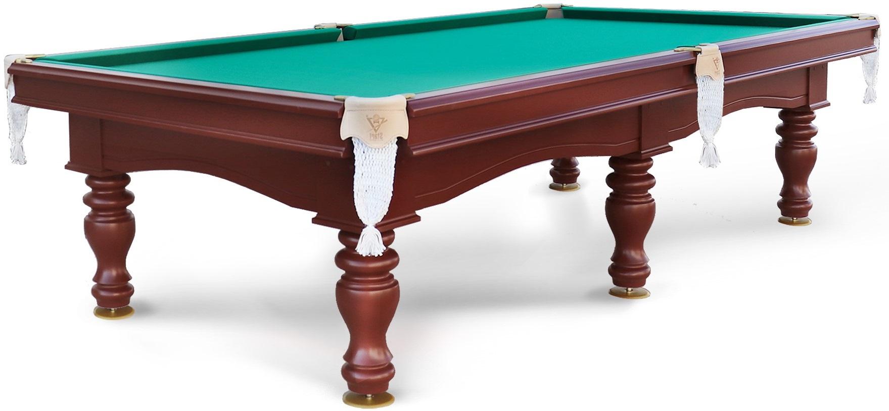 Бильярдный стол Старт Прага 10FT коричневый