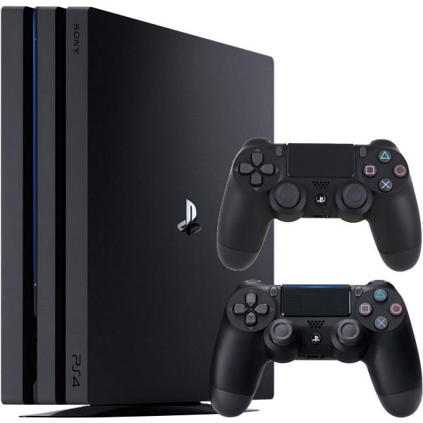 Игровая приставка Sony PlayStation 4 Pro 1Tb Black + 2 джойстика