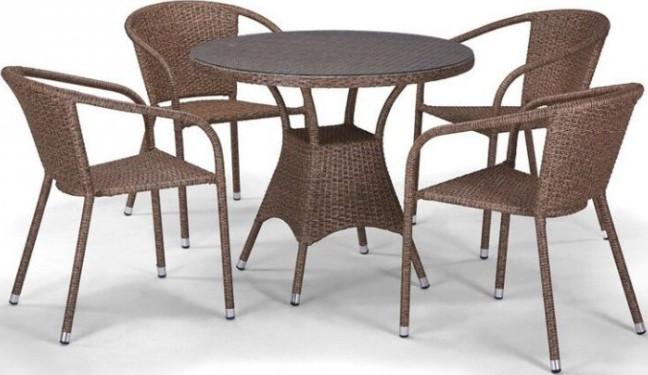 Комплект мебели Афина-Мебель T197AT/Y137A-W56 светло-коричневый