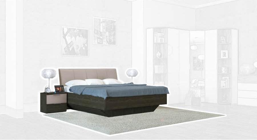 Спальня Интердизайн Тоскано ясень темный/капучино (композиция 1)