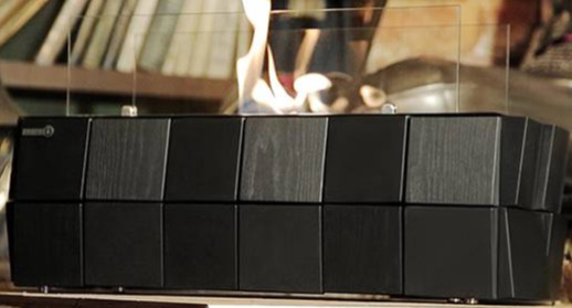 Биокамин Kronco Kvadro Table черный (настольный)