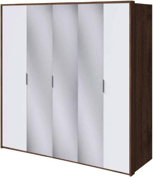 Шкаф Интердизайн Тоскано темно-коричневый/белый 221x232x60 см (с зеркалами)