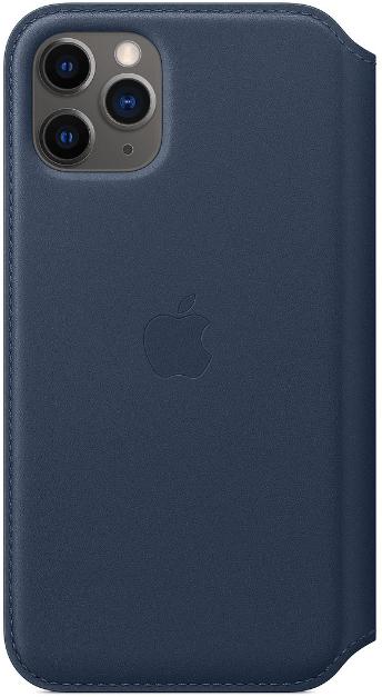 Чехол Apple iPhone 11 Pro Max Leather Folio Deep Sea Blue