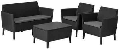 Комплект мебели Allibert Salemo графитовый/прохладный серый