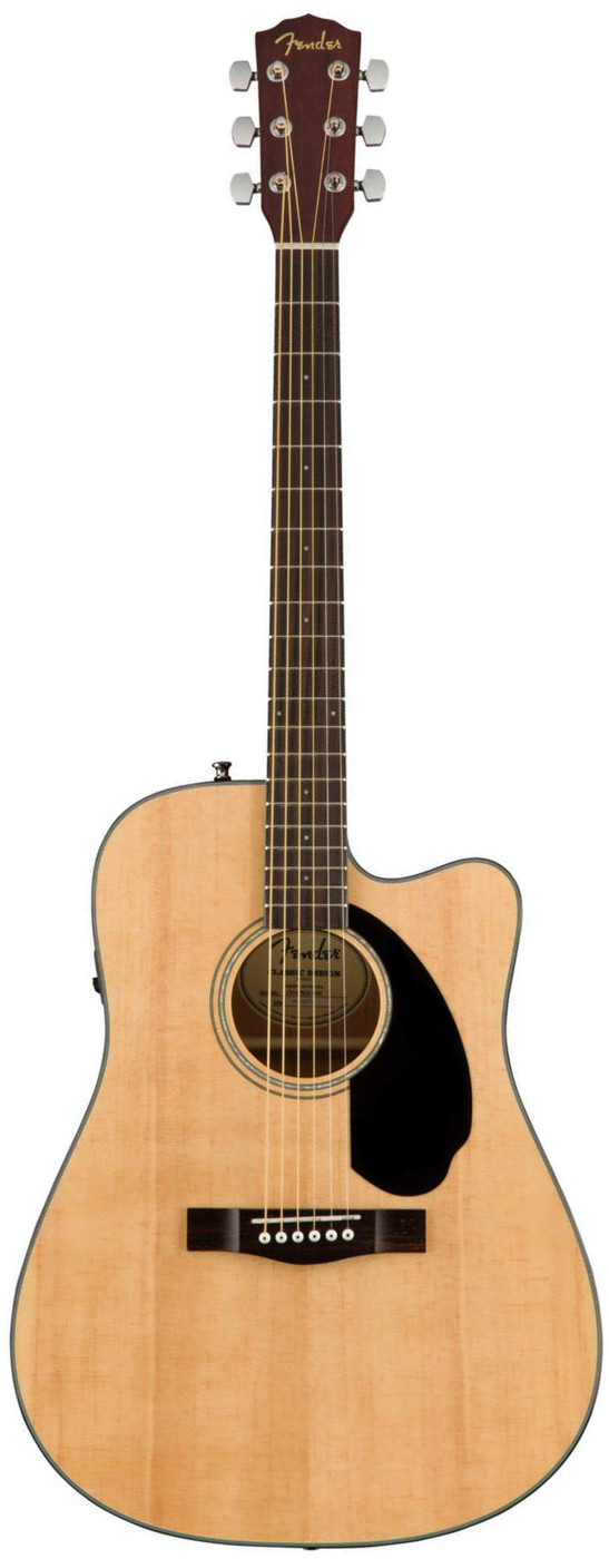 Акустическая гитара Fender CD-60SCE Dread NAT WN