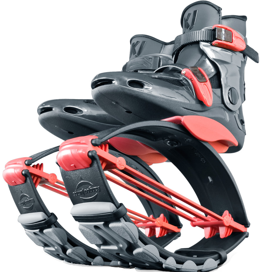 Джамперы Kangoo Jumps KJ-PowerShoe Titanium/Red (размер 32-35)
