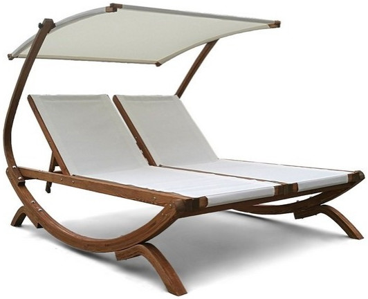 Шезлонг-лежак Афина-Мебель AFM-510 белый