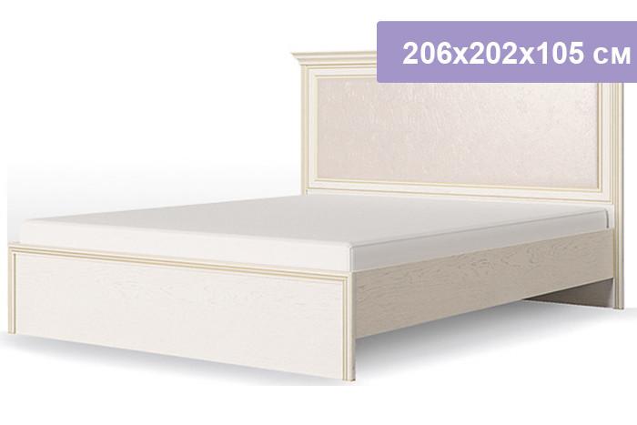 Двуспальная кровать Столплит Венето дуб/леонардо 206x202x105 см (ортопедическое основание 1800)