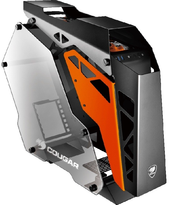 Корпус для компьютера Cougar Conquer Open Frame Chassis ATX Black/Orange