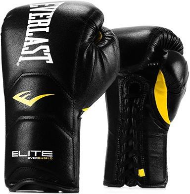 Перчатки Everlast Elite Pro 16oz Black (на шнуровке)