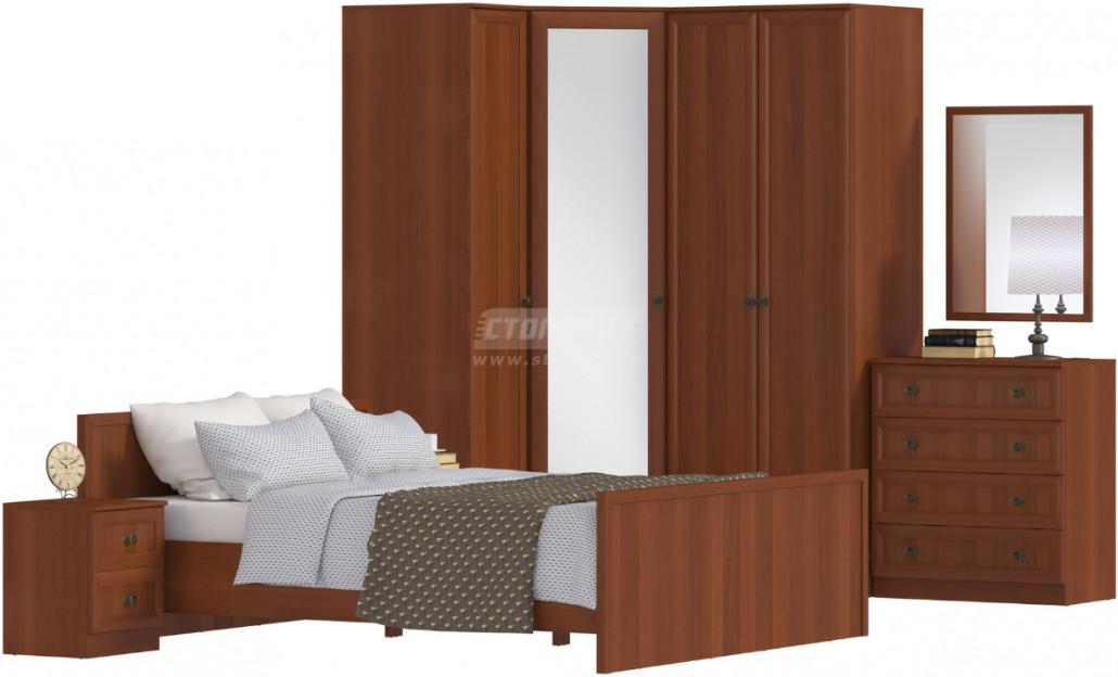 Спальня Столплит Джорджия 401-010-203-4246 итальянский орех (набор 1)