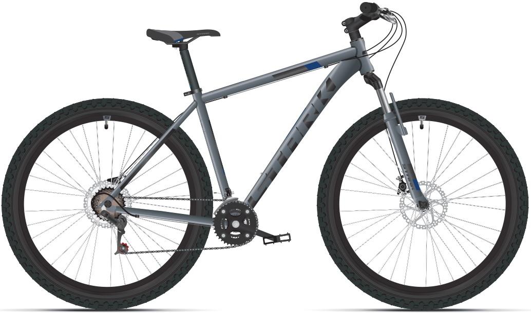 "Велосипед Stark Hunter 29.2 HD (2019) серый/черный/синий 29""/18"""