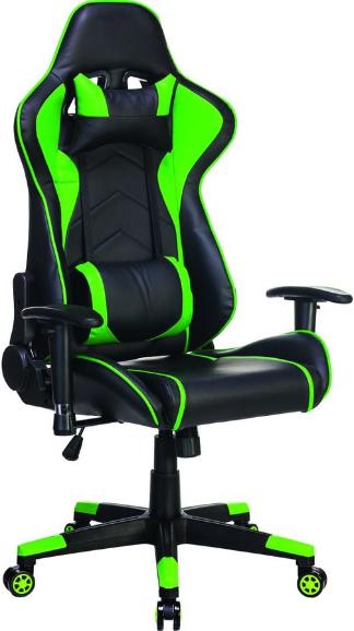 Игровое кресло Бюрократ СН-787/BL+GR черный/зеленый