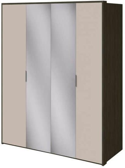 Шкаф Интердизайн Тоскано ясень темный/капучино 2209x1868x599 см (с зеркалами)