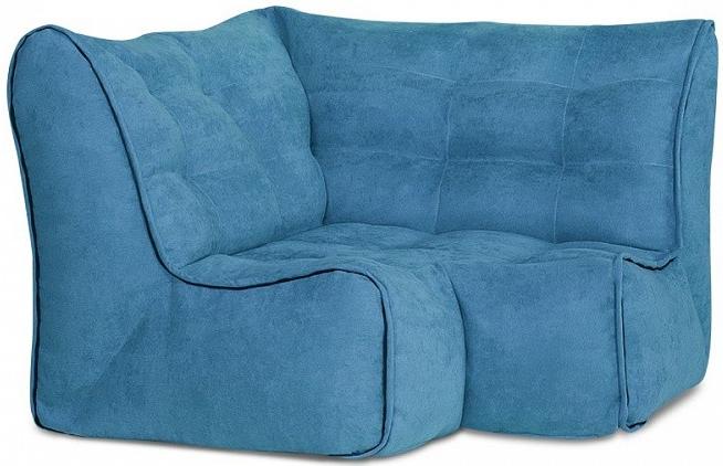 Угловая секция Цвет Диванов Релакс синий 115x115x80 см