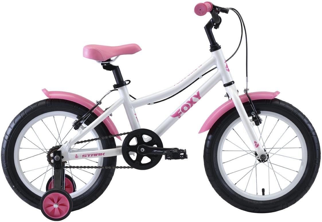 "Велосипед Stark Foxy 16 Girl (2020) белый/розовый 16"""