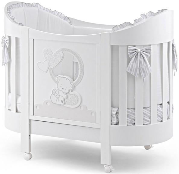 Кроватка Italbaby Love Oval белый