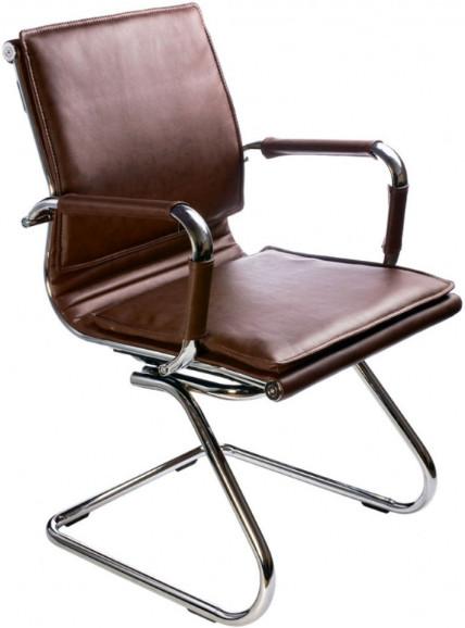 Кресло посетителя Бюрократ CH-993-LOW-V/BROWN коричневый