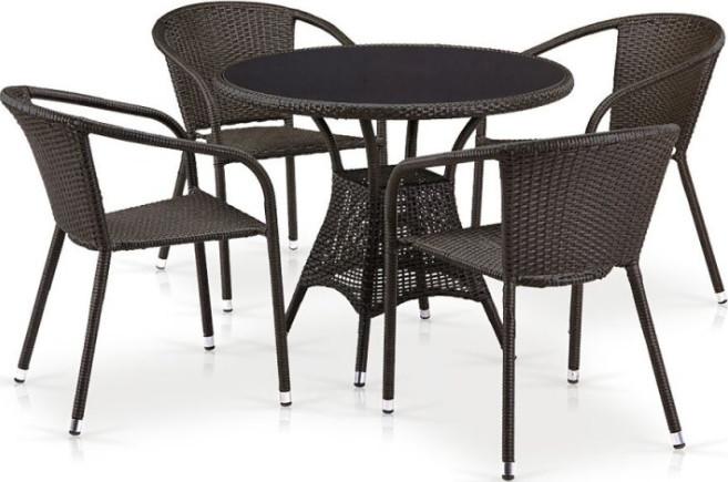 Комплект мебели Афина-Мебель T197ANS/Y137C-W53 коричневый
