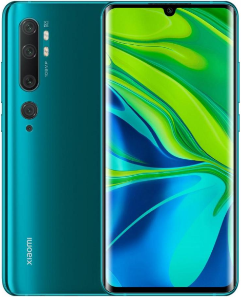 Смартфон Xiaomi Mi Note 10 LTE 6Gb 128Gb Aurora Green