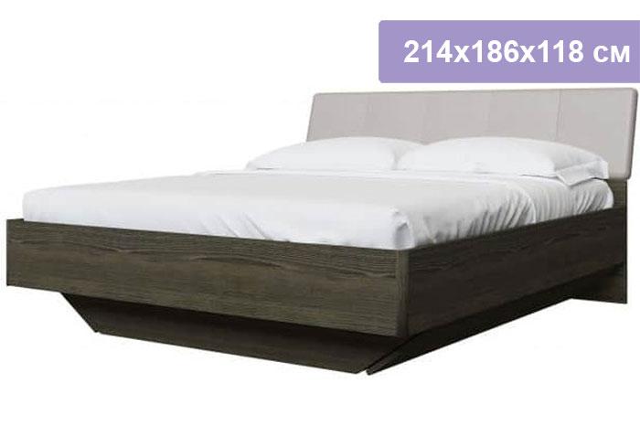 Двуспальная кровать Интердизайн Тоскано ясень темный/капучино 214x186x118 см (ортопедическое основание)