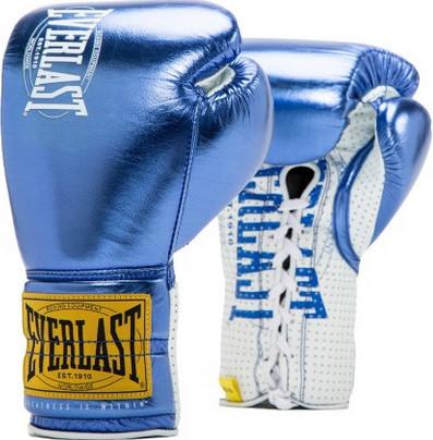 Перчатки Everlast 1910 Classic 10oz Blue (на шнуровке)